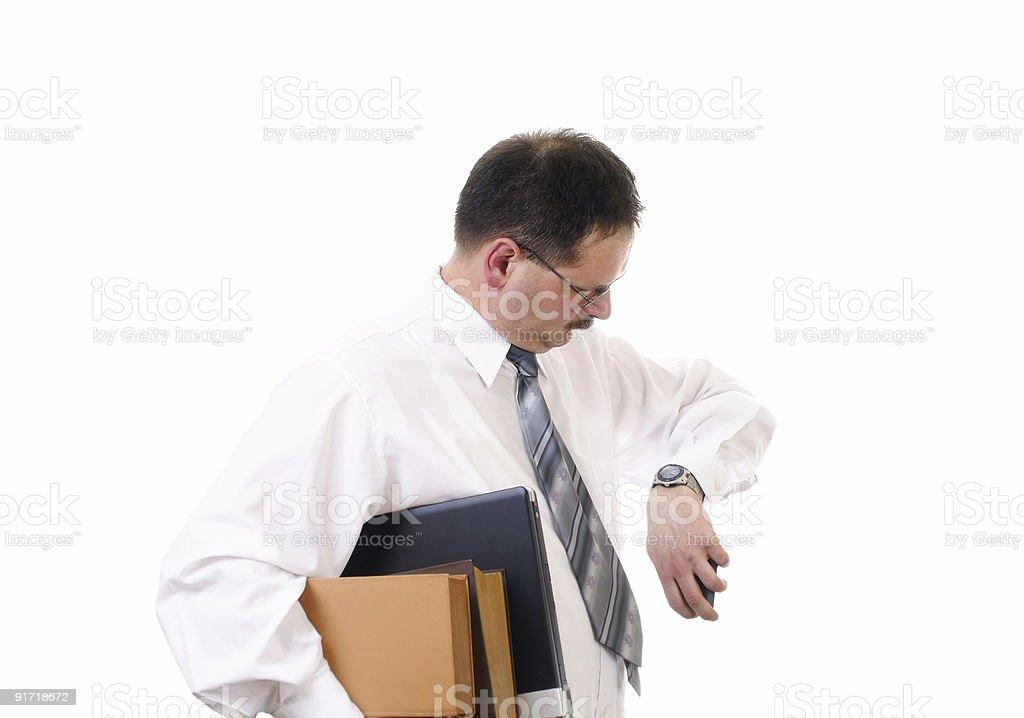 Businessman wait royalty-free stock photo