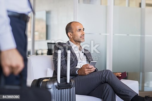 istock Businessman waiting at airport 842865090