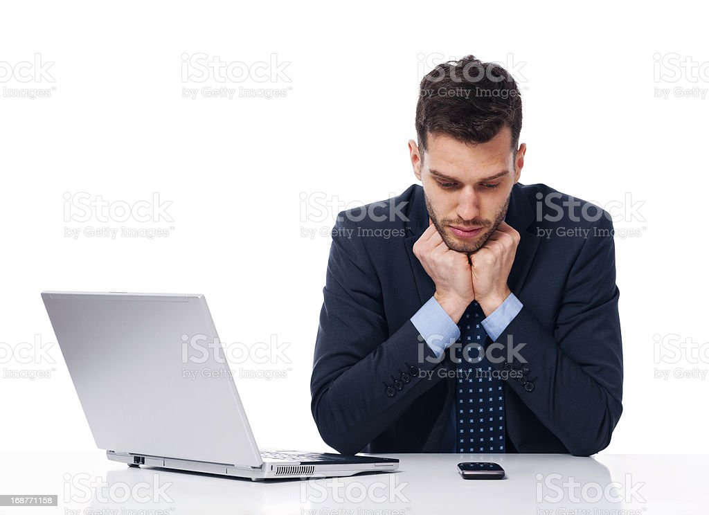 Businessman waiting for an important call stock photo