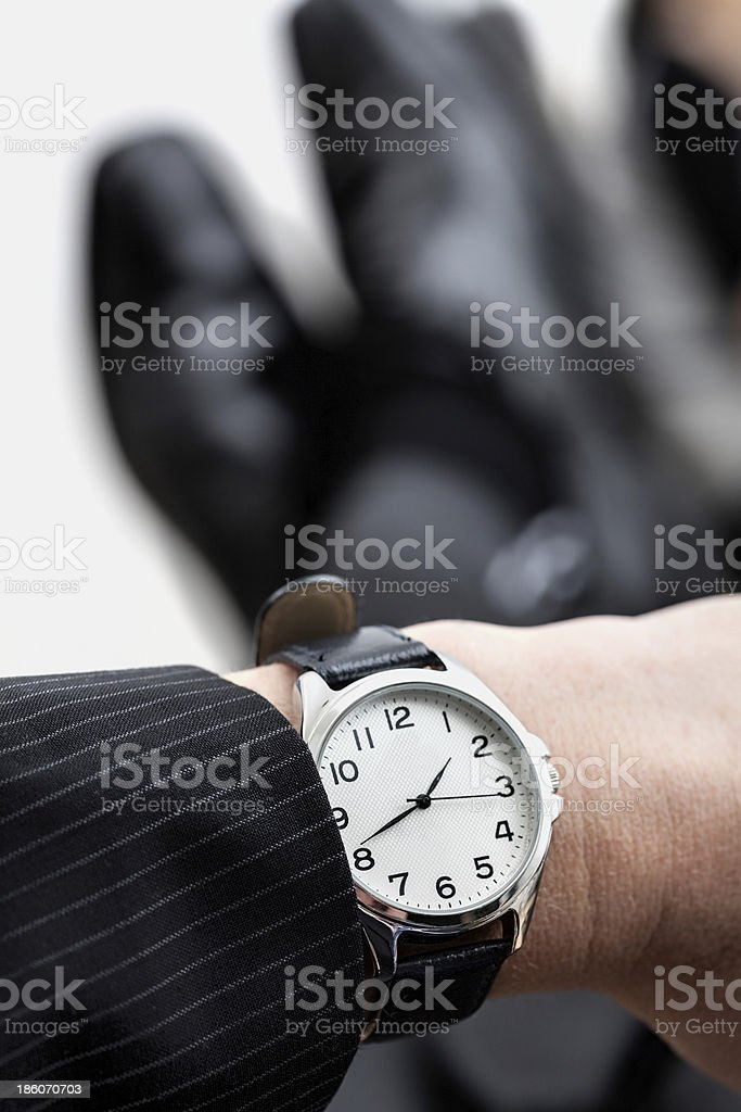 Businessman waiting for weekend royalty-free stock photo
