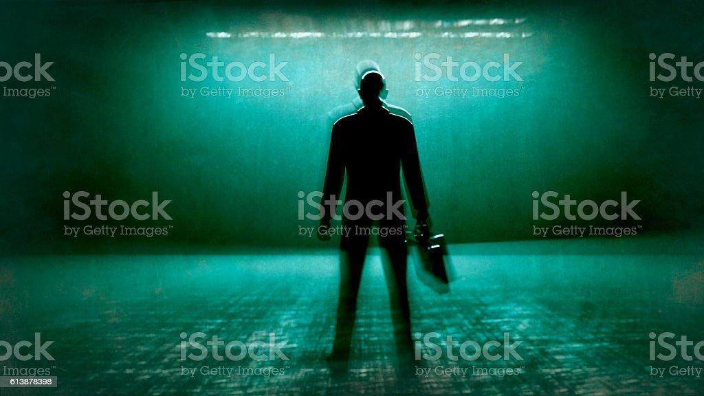 Businessman waiting stock photo