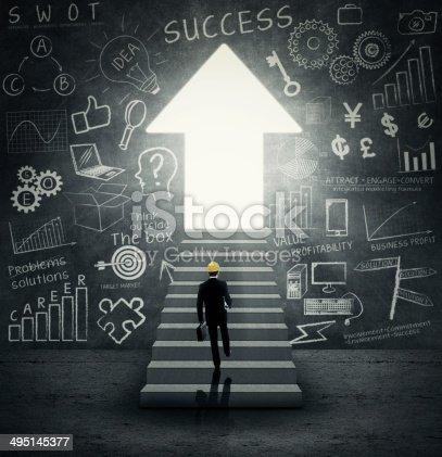 istock Businessman walking into bright future 495145377