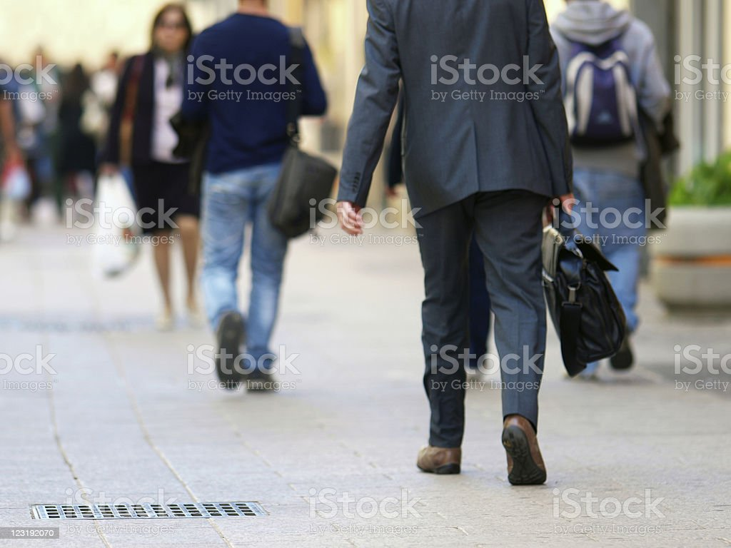 Businessman walking royalty-free stock photo