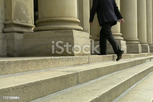 istock Businessman Walking Up Stairs 172189684