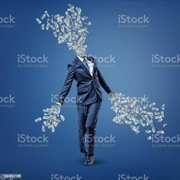 Businessman walks with his head and hands turned into money bills picture id1064942188?b=1&k=6&m=1064942188&s=612x612&h=pll77dxlo7i2dw5sgiqfsrvn1v2oizzvkbw7zyws  a=