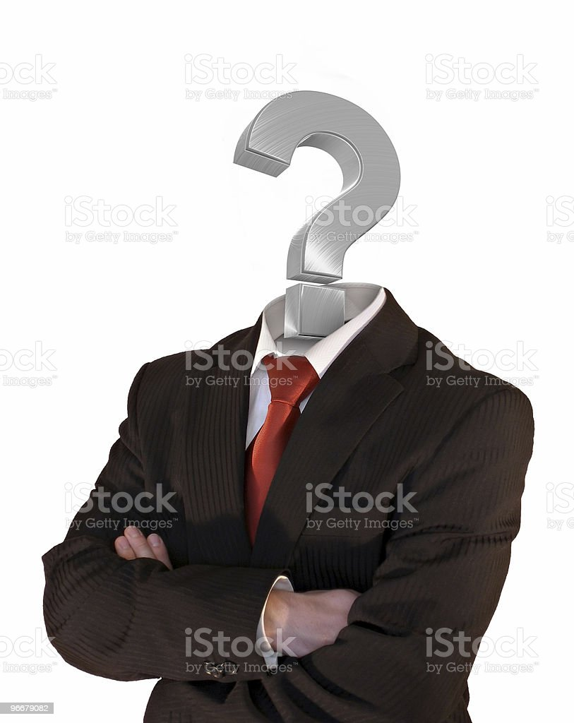 Businessman wanted royalty-free stock photo