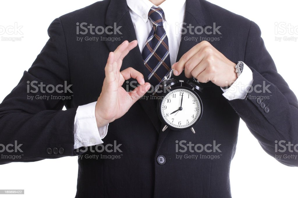 businessman watch and check time for complain something royalty-free stock photo