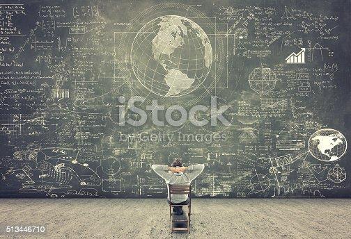 istock Businessman watching formulas 513446710