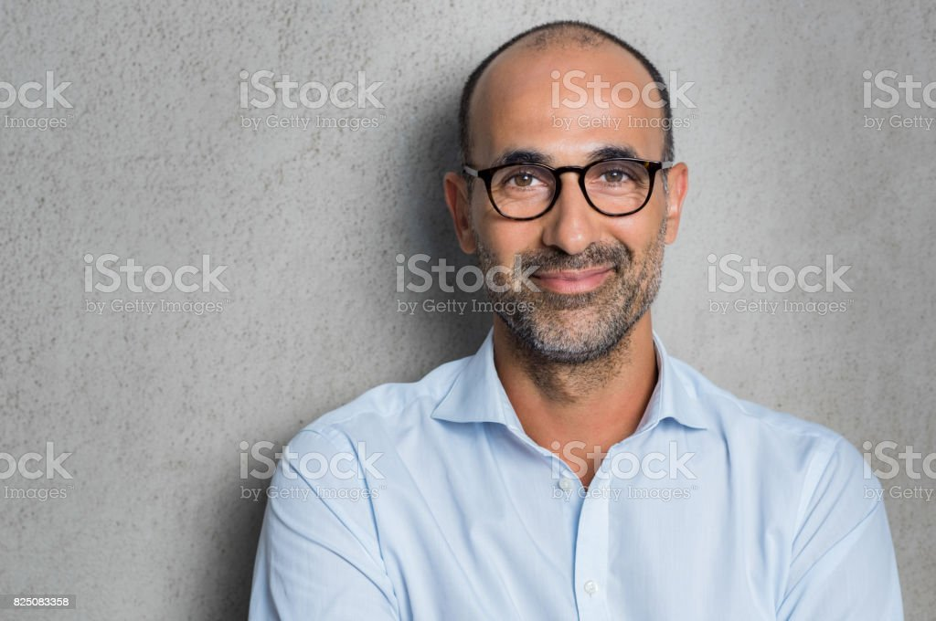 Businessman wearing eyeglasses stock photo
