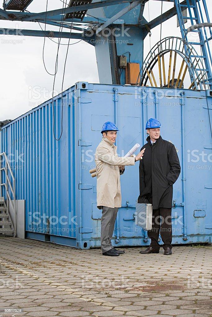 Businessman wearing helmets royalty-free 스톡 사진
