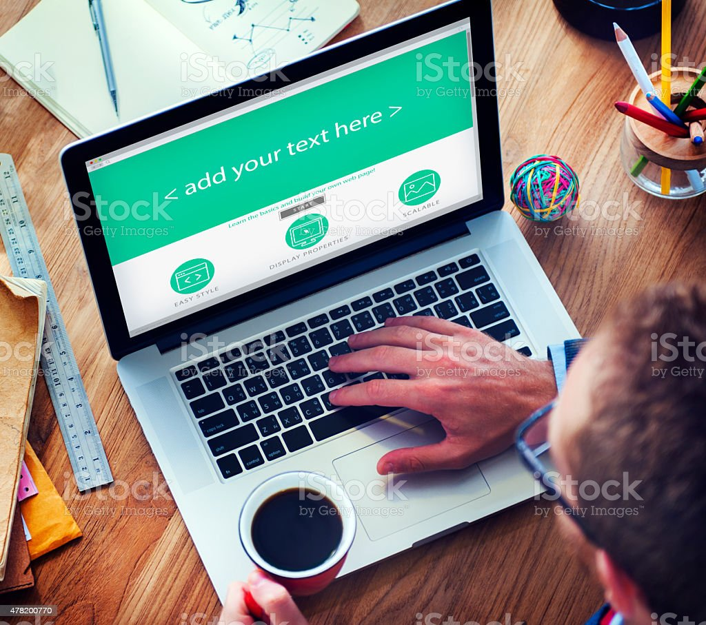 Businessman Web Design Copy Space Concept stock photo