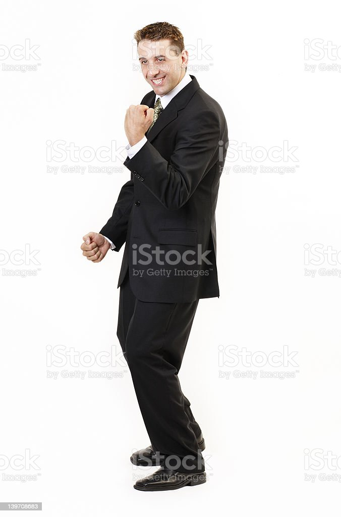 Businessman winning royalty-free stock photo