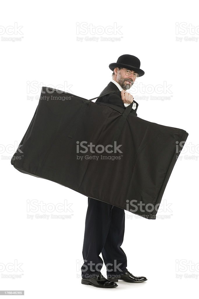 Businessman with a big bag royalty-free stock photo