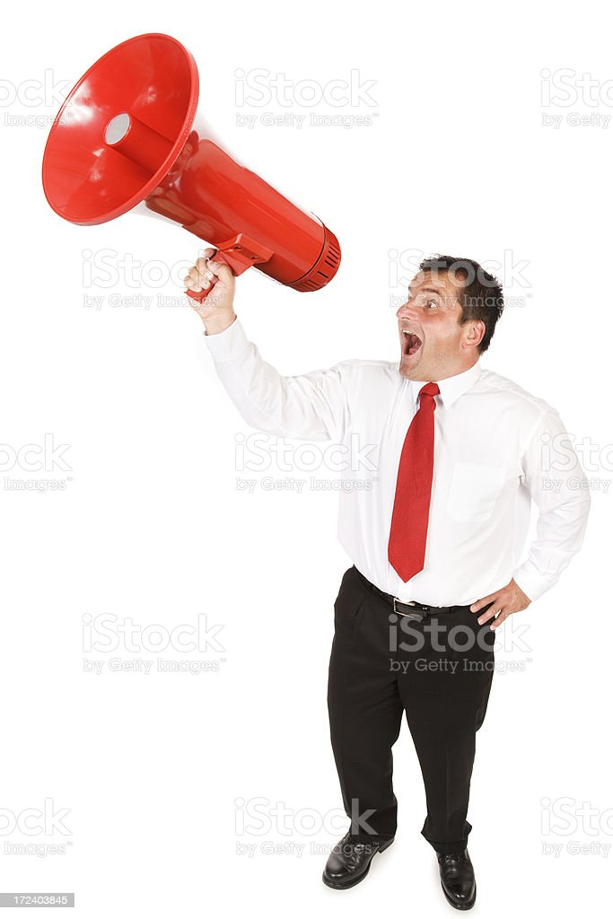 Businessman with a Big Message royalty-free stock photo