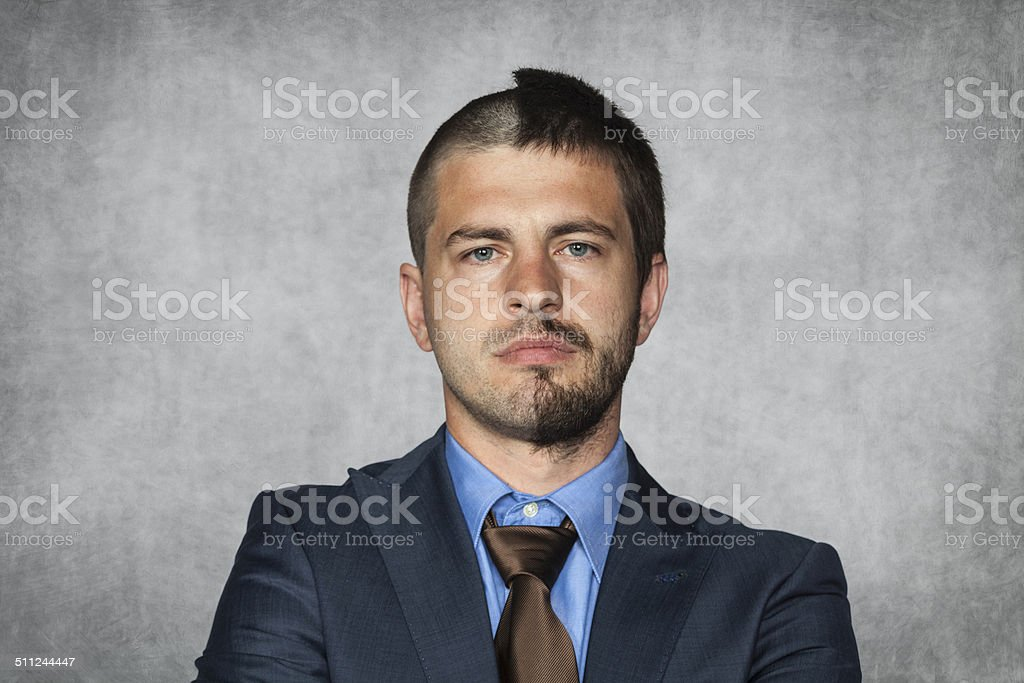 Businessman With A Haircut For Half Head Stock Photo More Pictures