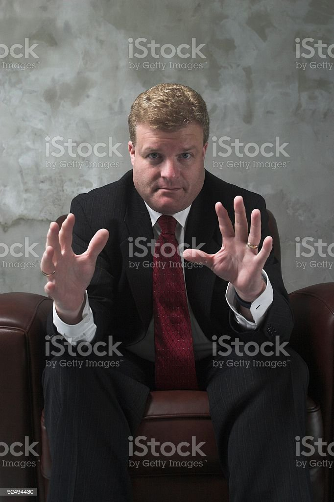 Businessman with a plan royalty-free stock photo
