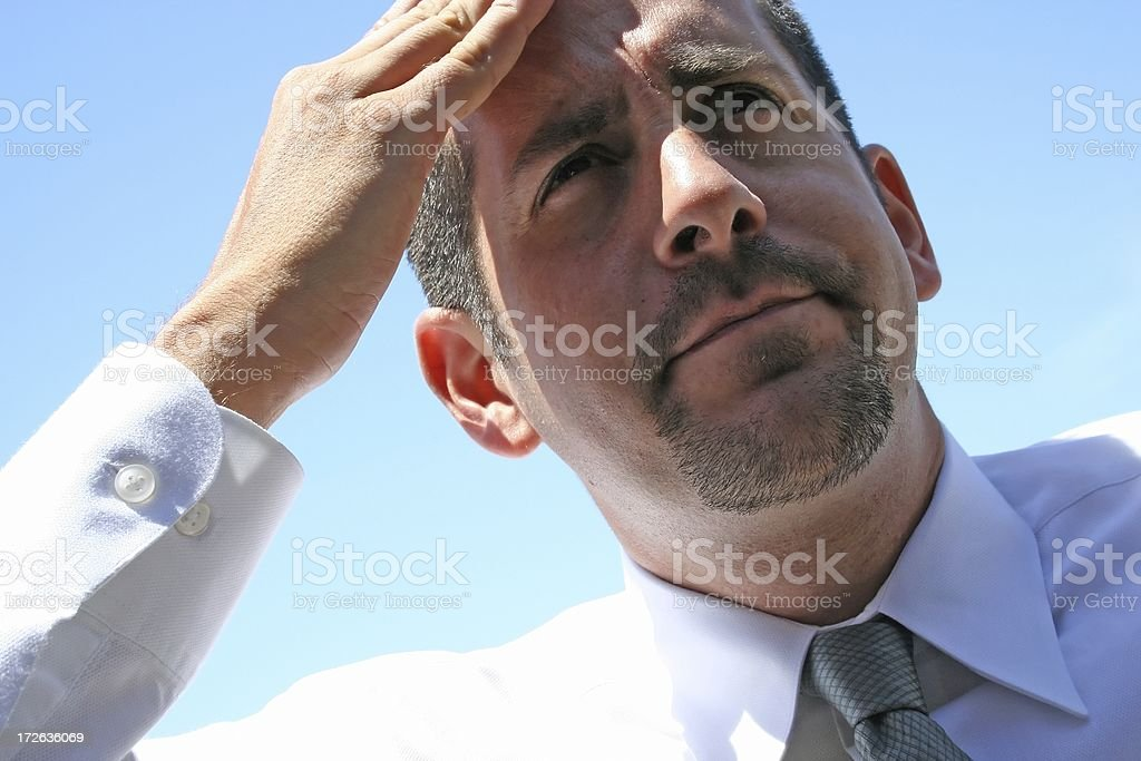 Businessman with a Problem royalty-free stock photo