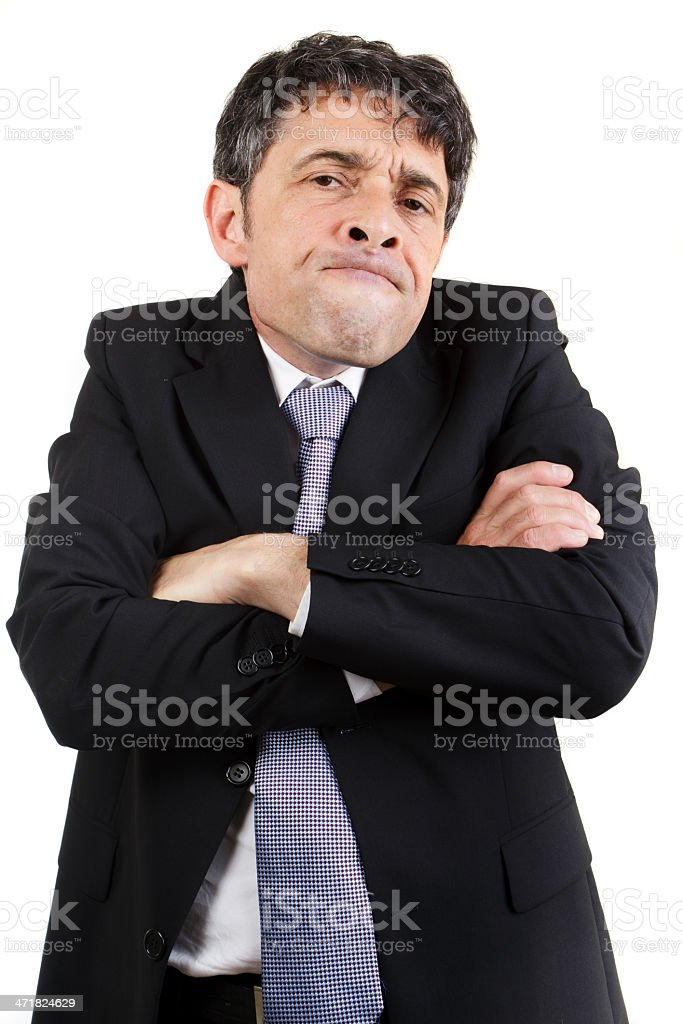 Businessman with a speculative expression royalty-free stock photo