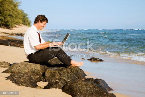 1043434558 istock photo Businessman with a Water View 157309110