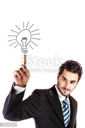 637573406istockphoto businessman with an idea 480490335