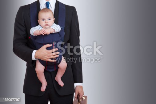 istock Businessman With Baby 155097797