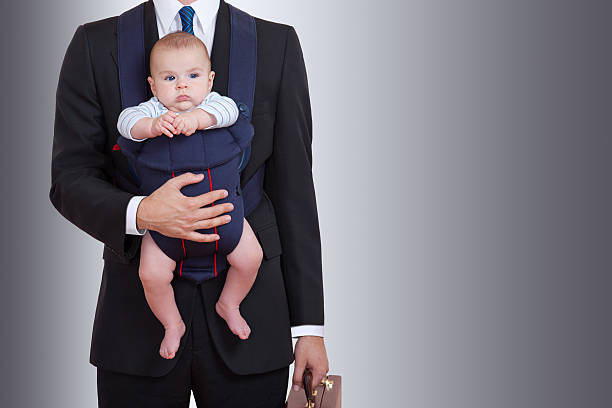 Businessman With Baby stock photo