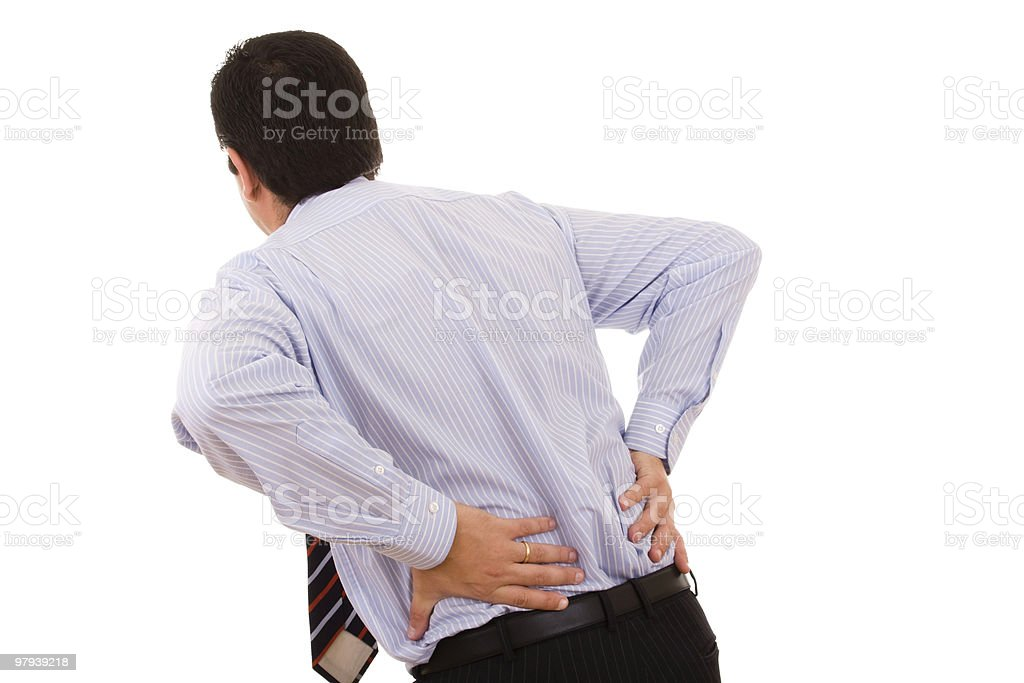 businessman with back pain royalty-free stock photo