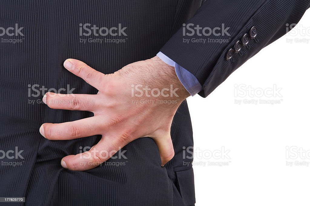 Businessman with backache. royalty-free stock photo