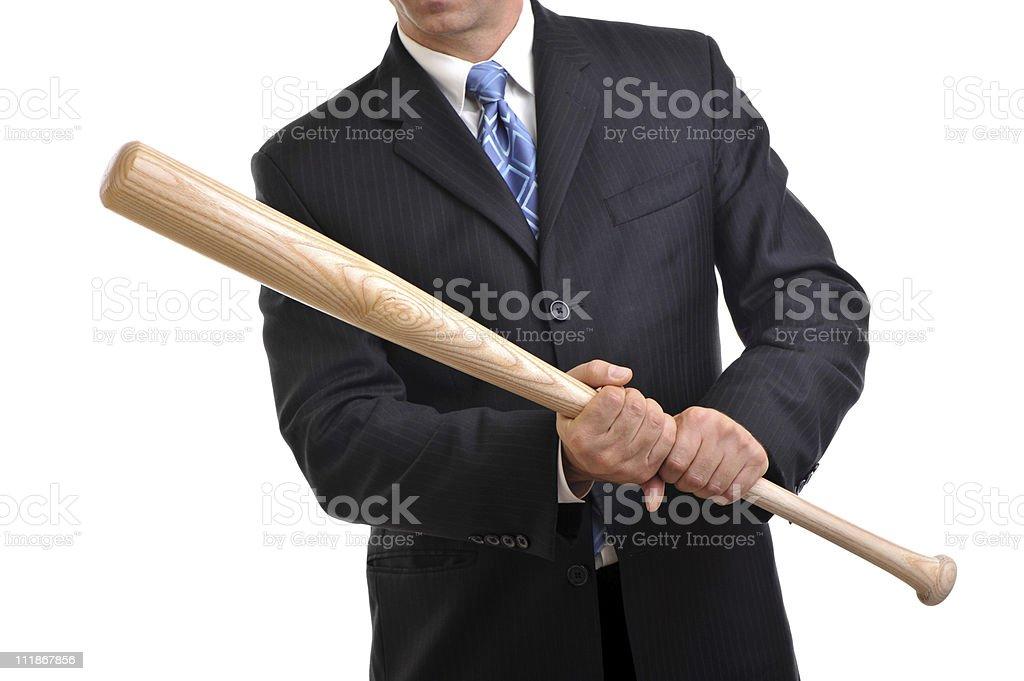 Businessman with Baseball Bat royalty-free stock photo