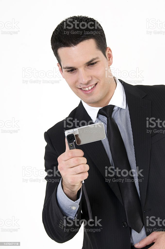 Businessman with cellular phone royalty-free stock photo
