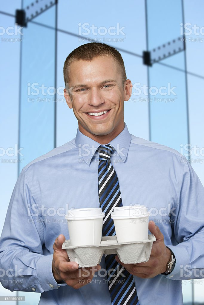 Businessman with coffee takeout royalty-free stock photo
