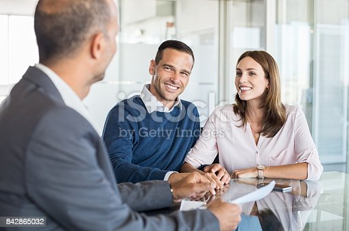 istock Businessman with customers 842865032