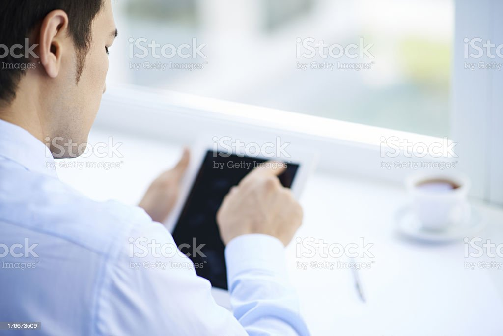 Businessman with digital tablet royalty-free stock photo