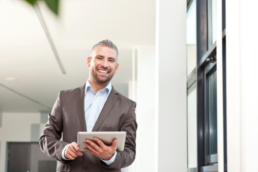 Businessman With Digital Tablet Stock Photo - Download Image Now
