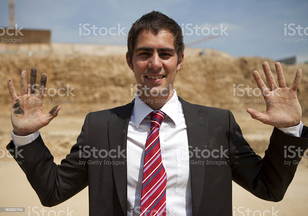 Businessman with dirty hand royalty-free stock photo