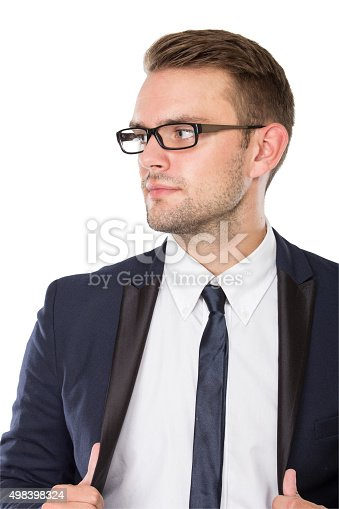 istock Businessman with elegant gaze, close up 498398324