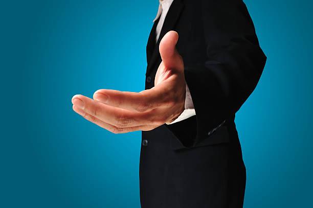 Geschäftsmann mit leeren hand – Foto