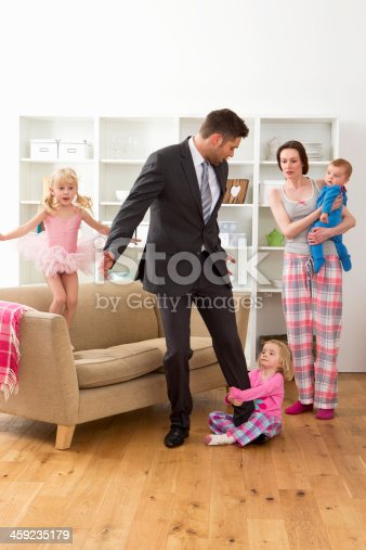 155097797 istock photo Businessman With Family 459235179