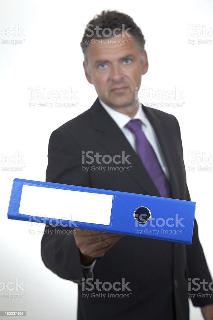 Businessman with File Folder stock photo