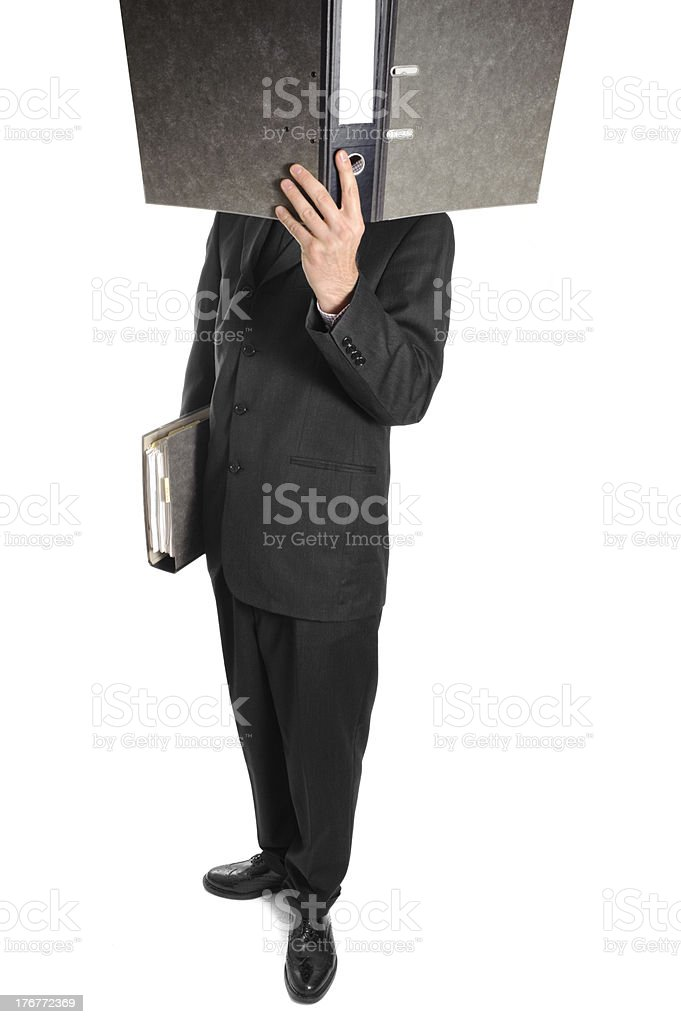 Businessman with folder royalty-free stock photo