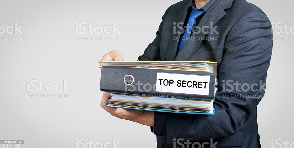 businessman with folders and documents stock photo