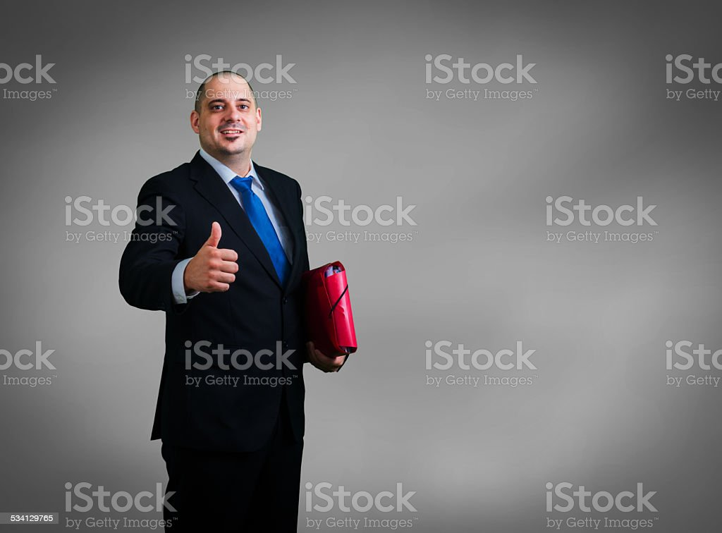 businessman with folders and documents royalty-free stock photo