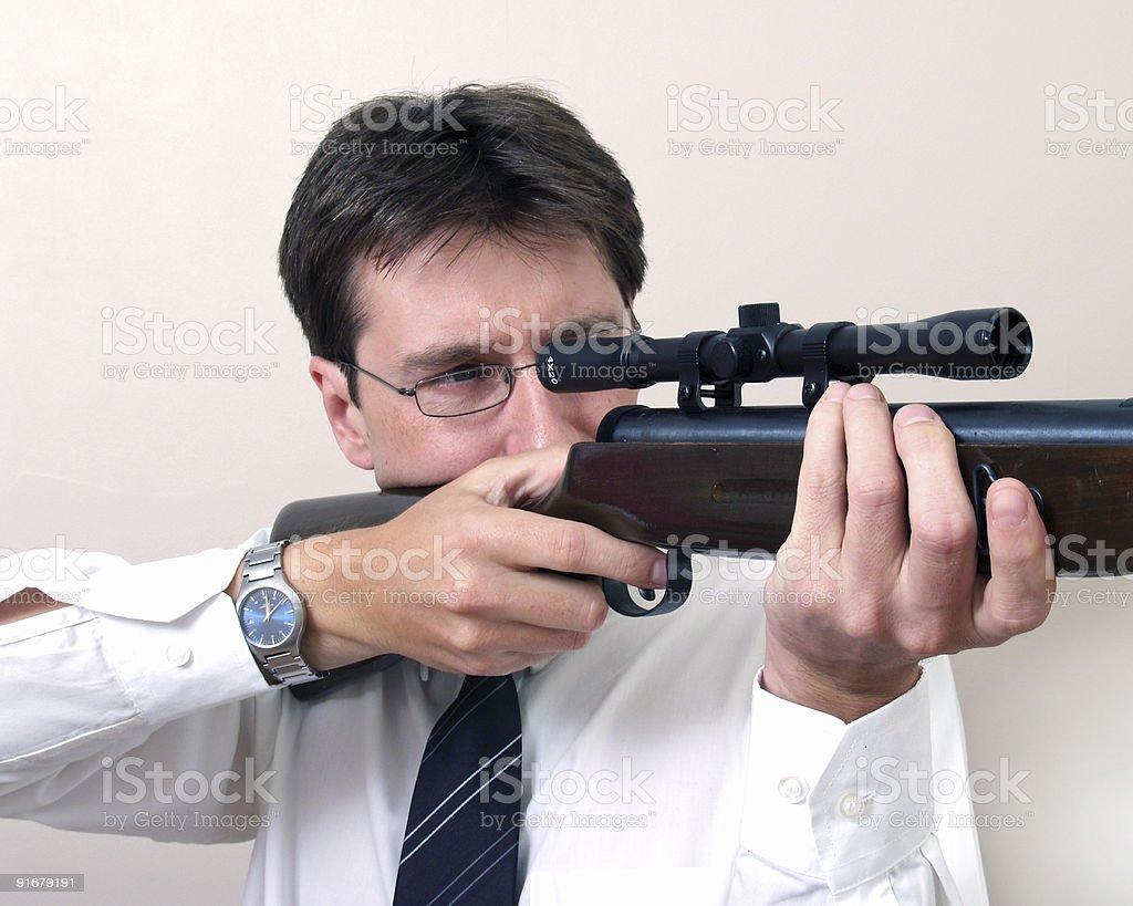 Businessman with Gun royalty-free stock photo