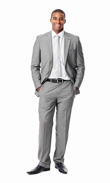 Businessman With Hands In Pockets - Isolated stock photo