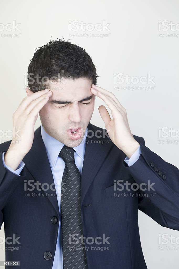 businessman with headache royalty-free stock photo