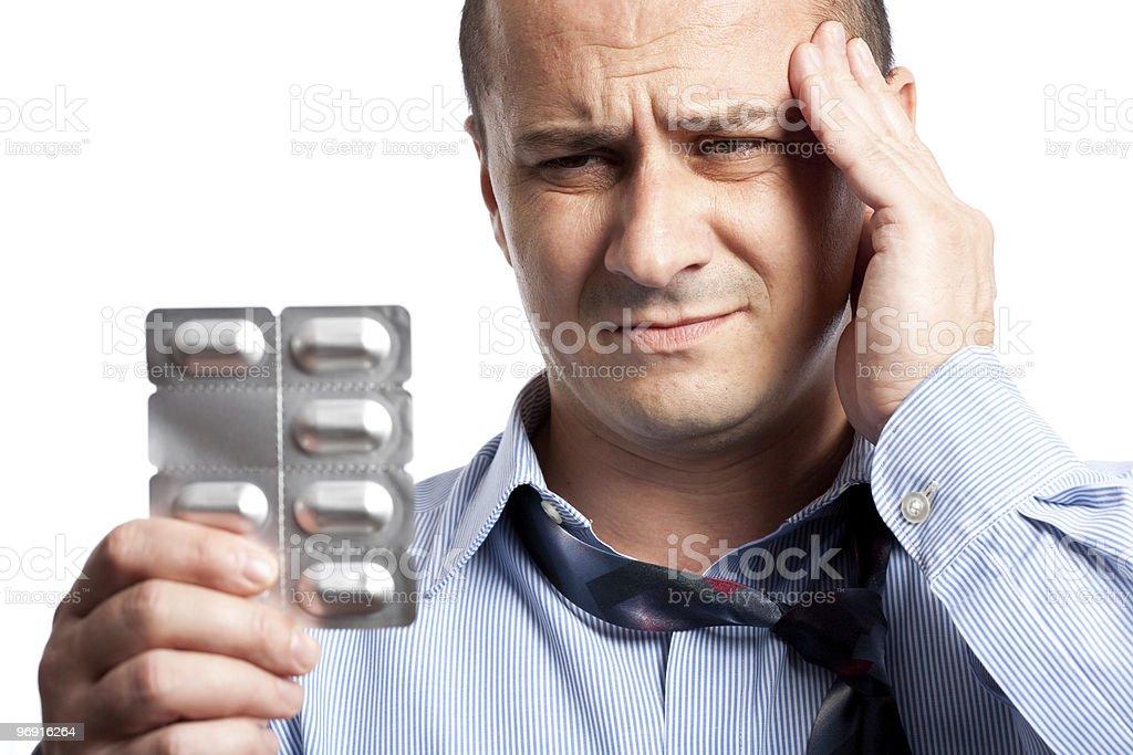 Businessman with headache royalty-free stock photo