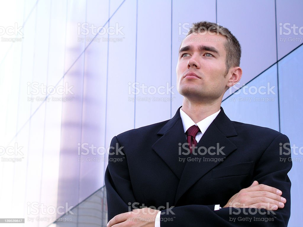 Businessman With His Arms Crossed royalty-free stock photo