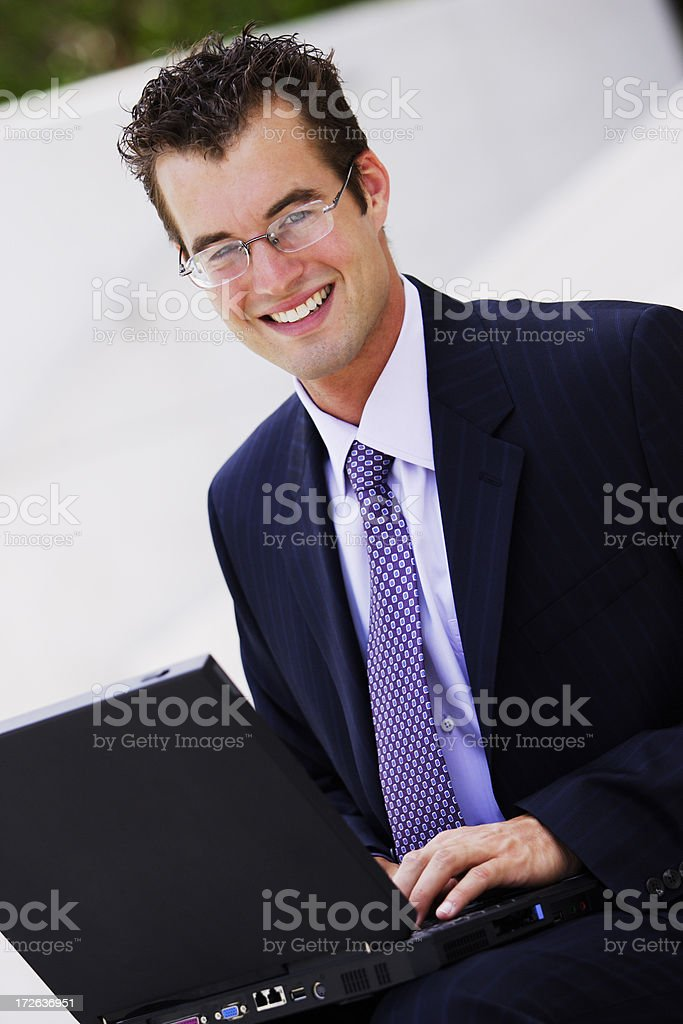 Businessman with Laptop I royalty-free stock photo