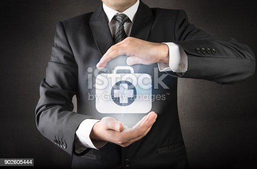 istock Businessman with Medical insurance 902605444