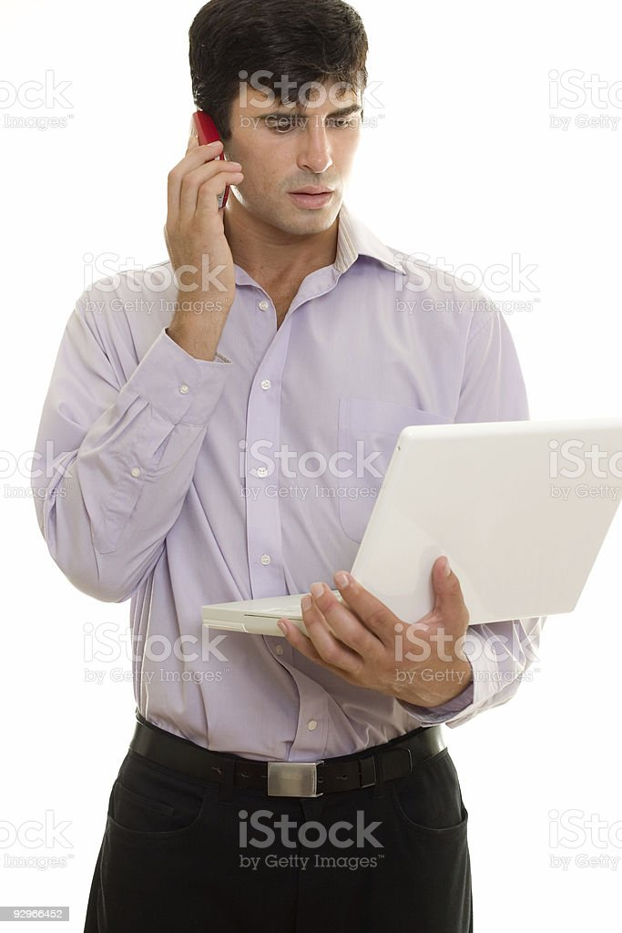 Businessman  with Mobile Technologies royalty-free stock photo